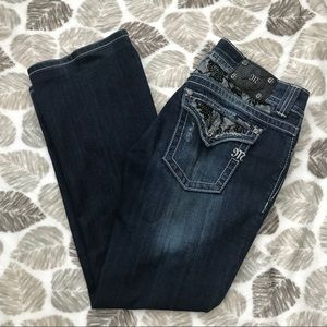 Miss Me Jeans- JP5002B2 Boot Lace Pocket Size 31